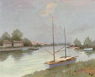 Le canal du midi à Aygues-Mort