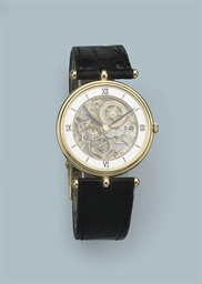 AN 18K GOLD SKELETONIZED WRIST