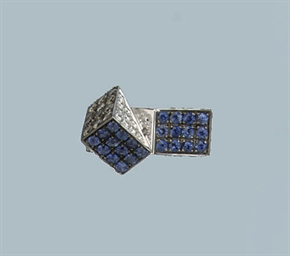 A CONTEMPORARY SAPPHIRE AND DI