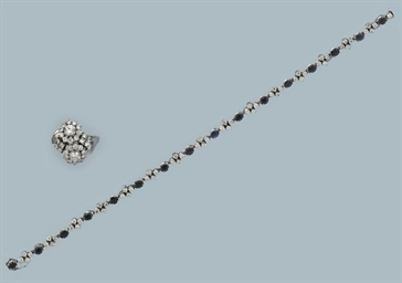 A GROUP OF DIAMOND-SET JEWELLE