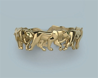 A PANTHER BANGLE, BY CARTIER