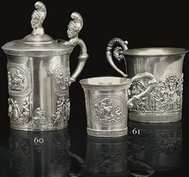 A Silver Handled Cup and Cover