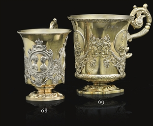 A Silver-Gilt Handled Cup
