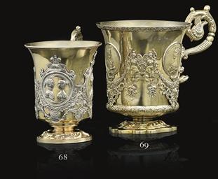 A Silver-Gilt Handled Cup