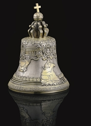 A Parcel-Gilt Silver Model of