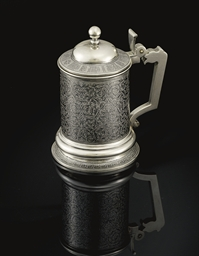 A Silver and Niello Tankard