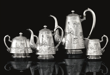 A Silver Tea and Coffee Servic