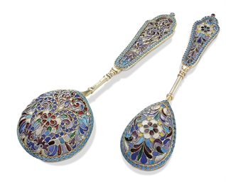 Two Silver-Gilt and Plique-à-J