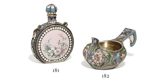 A Silver-Gilt Cloisonné and En