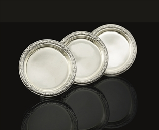A Set of Three Silver Dishes