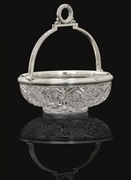 A Silver-Mounted Cut Glass Bow