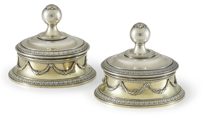 A Pair of Silver-Gilt Small Bo