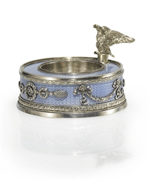 A Silver and Guilloché Enamel