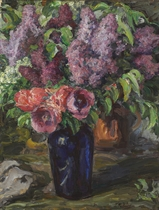 Lilacs and poppies