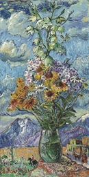 Bouquet and mountains, Colorad