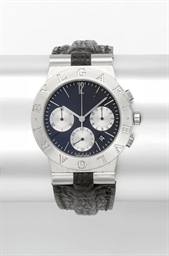 Bulgari. A stainless steel chr