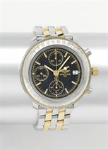 Breitling A stainless steel and gold automatic dual time chr