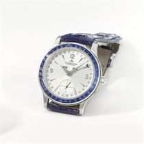 Jaeger-LeCoultre A fine and rare platinum and sapphire-set a