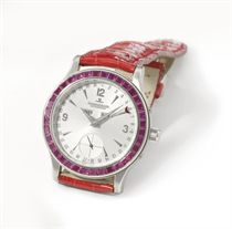 Jaeger-LeCoultre A fine and rare platinum and ruby-set autom
