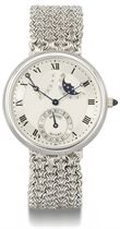 Breguet An 18K white gold automatic wristwatch with power re
