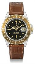 Rolex A fine stainless steel and gold automatic dual time wr