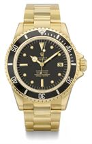 Rolex An 18K gold automatic wristwatch with sweep centre sec
