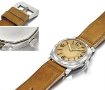 Panerai. An extremely rare stainless steel cushion-shaped diver's wristwatch, made for the Egyptian Navy
