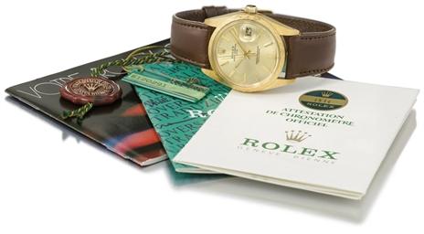 Rolex. A fine 18K gold automat
