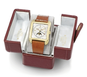Vacheron Constantin A very fine, large and rare 18K gold squ...