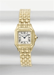 Cartier. A lady's 18K gold squ