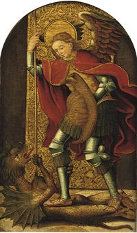 Hammer Down Auctions >> Hispanic-Flemish School, early 16th Century | Saint Michael fighting the Devil | Old Master ...