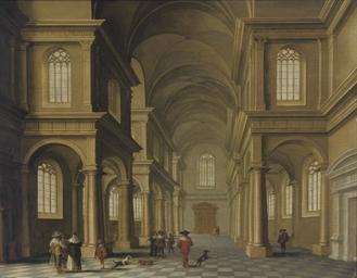 A classical church interior wi