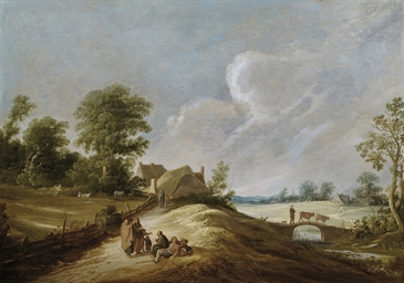A wooded landscape with a gyps
