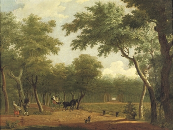 A wooded landscape with an ele