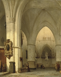 Interior of the St. Bavo, Haar