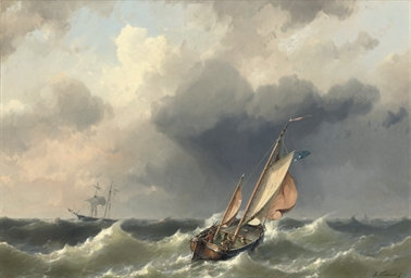 Shipping of the coast of Texel