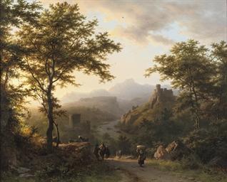 Een bergachtig landschap bij o
