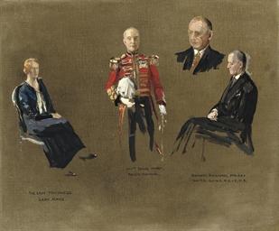 Portrait studies for 'The Mast