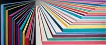 Perspective Stripes Painting