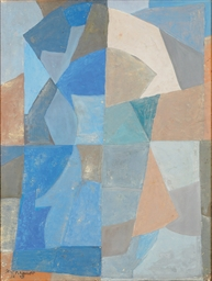 Composition en Bleu, Gris et B
