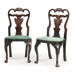 A PAIR OF IRISH GEORGE II MAHO