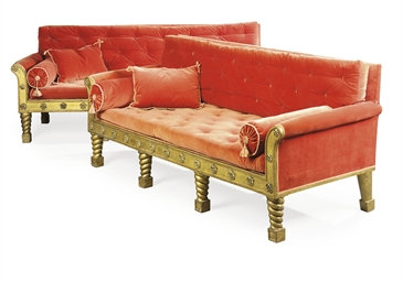A PAIR OF IRISH GEORGE IV GILT