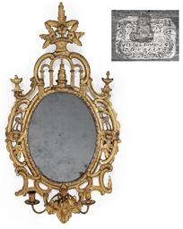 A GEORGE III GILTWOOD GIRANDOL