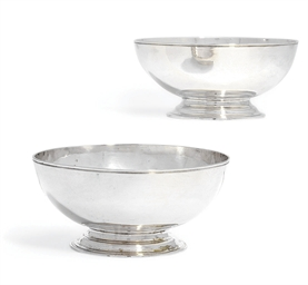 A PAIR OF SILVER BOWLS