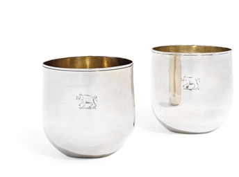 A PAIR OF GEORGE III SILVER TU