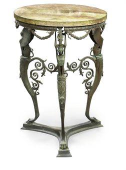 A ROMAN BRONZE TABLE AFTER THE POMPEIAN ANTIQUE