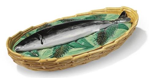 A GEORGE JONES MAJOLICA FISH-D