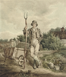 A farm labourer with his pitch