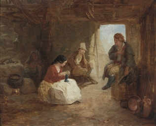 Irish cabin interior