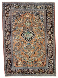 AN FINE KASHAN PRAYER RUG, CEN